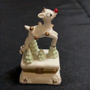 Lenox Reindeer Trinket Box